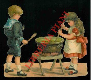 Bambini in cucina.