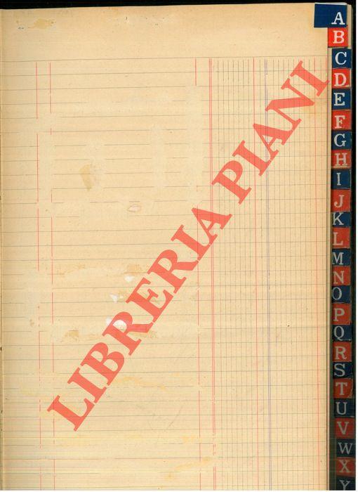 Libro mastro alfabetico (A-Z)