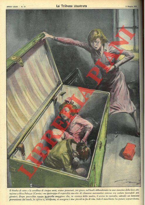 Il bimbo di sette e la sorellina di cinque anni, erano penetrati, per gioco, nel baule abbandonato in uno stanzino della loro abitazione a Riva Paluzza (Carnia) ma purtroppo il coperchio munito di chiusura automatica esterna era caduto facendoli prigionie