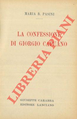 La confessione di Giorgio Capuano.