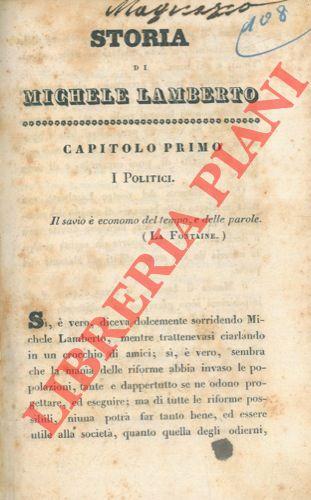 Storia di Michele Lamberto o la influenza della economia domestica.