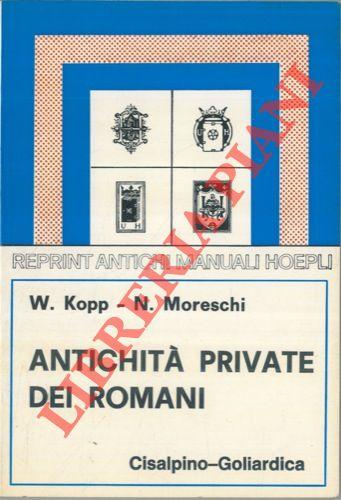 Antichità private dei romani.