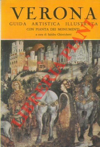 Verona, guida artistica illustrata con pianta dei monumenti.