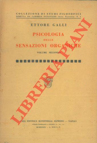 Psicologia delle sanzioni. Organiche. Vol. I - II