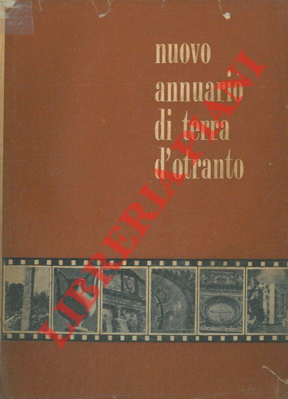 Nuovo Annuario di Terra d'Otranto. I. II.