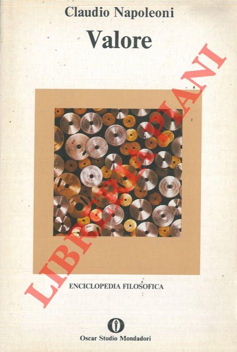 Valore. Enciclopedia filosofica.