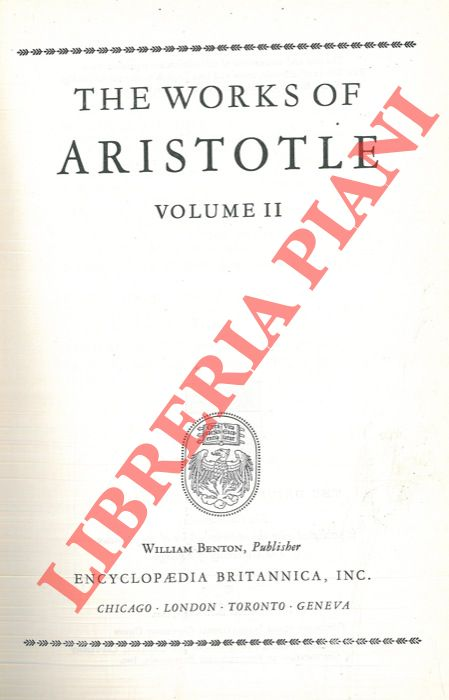The works of Aristotle. Volume II.