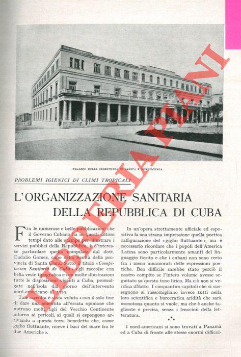 L'organizzazione sanitaria della Repubblica di Cuba.