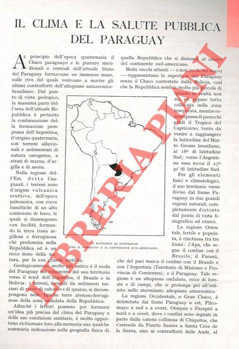 Il clima e la salute pubblica del Paraguay.