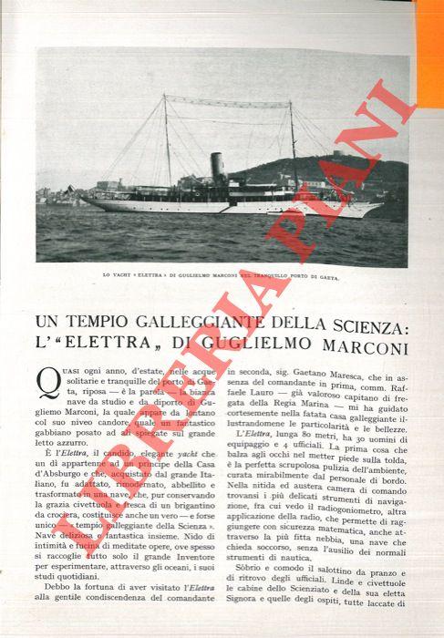 Un tempio galleggiante della scienza: l' ÒElettraÓ di Guglielmo Marconi.