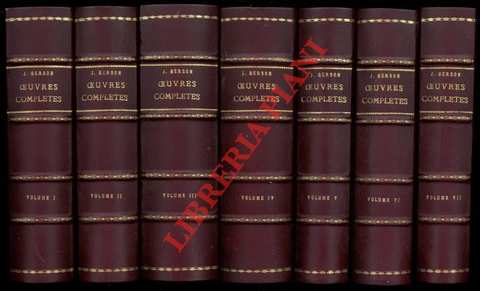 Oeuvres completes. I: Introduction generale. II: L'oeuvre épistolaire. III: L'oeuvre magistrale. IV: L'oeuvre poétique. V: L'oeuvre oratoire. VI: L'oeuvre ecclésiologique. VII-1: L'oeuvre française. VII-2: L'oeuvre française. Sermons et discours. VIII: L'