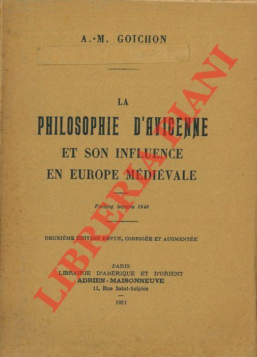 La philosophie d'Avicenne et son influence en Europe Médiévale.