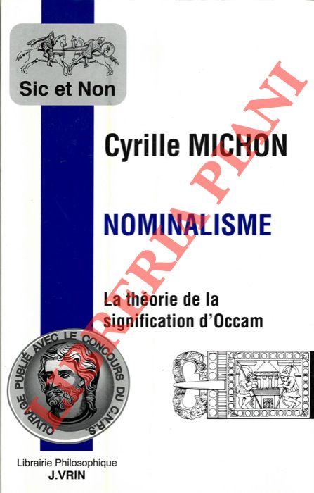 Nominalisme. La théorie de la signification d'Occam.