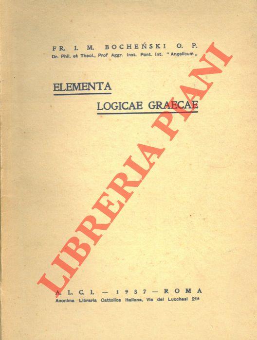 Elementa logicae graecae.