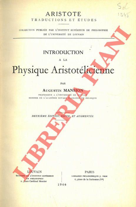 Introduction à la Physique Aristotélicienne.