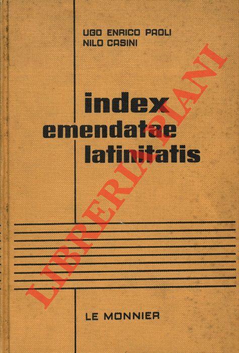 Index emendatae latinitatis.