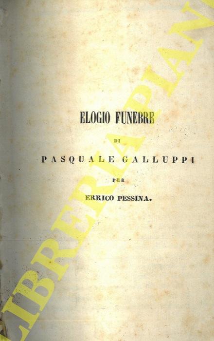 Elogio funebre di Pasquale Galluppi.