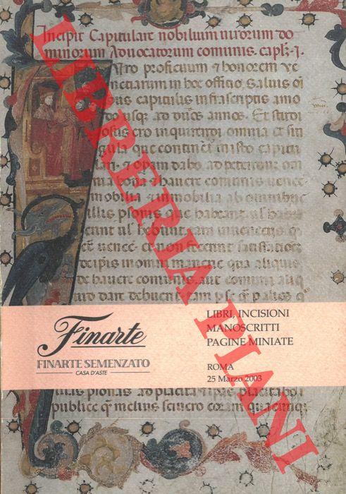 Libri, incisioni, manoscritti e pagine miniate.