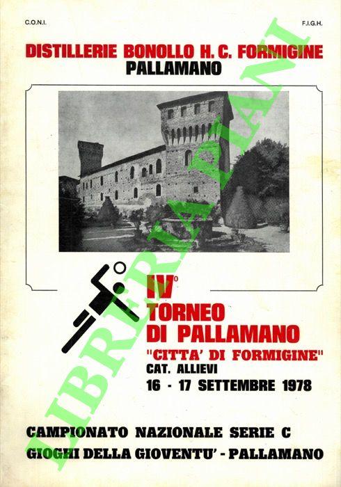 IV° Torneo di pallamano Città di Formigine.