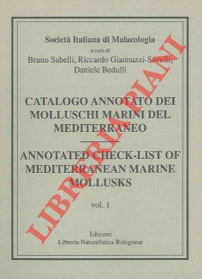 4-19877 – Catalogo annotato dei molluschi marini del Mediterraneo. – Annotated check-list of Mediterranean marine mollusks.