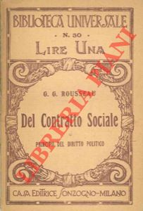 Del contratto sociale o principii del diritto politico.