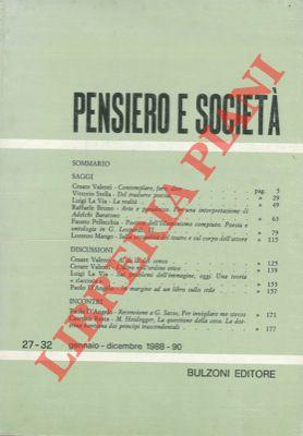 Pensiero e società. Rivista semestrale di cultura filosofica e scienze sociali.