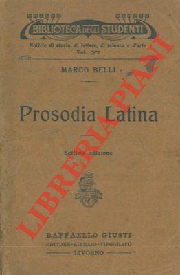 Prosodia latina.