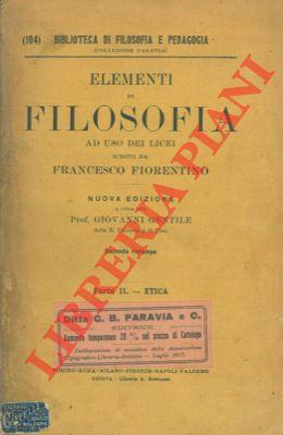 Elementi di filosofia. Parte II. Etica.