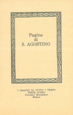 Pagine di S. Agostino.