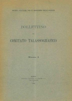 Bollettino del Comitato Talassografico. Bollettino bimestrale.