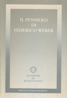 Il pensiero di Federico Weber.