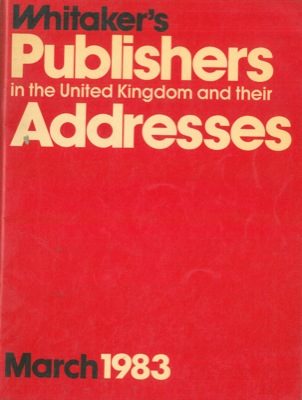 Whitaker's publishers in the United Kingdom and their adresses.