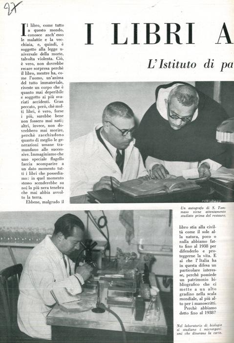 I libri ammalati. L'Istituto di Patologia del Libro.